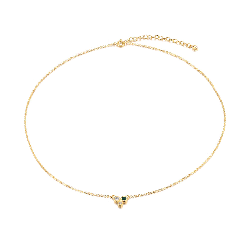 Enamel Necklace - seol-gold