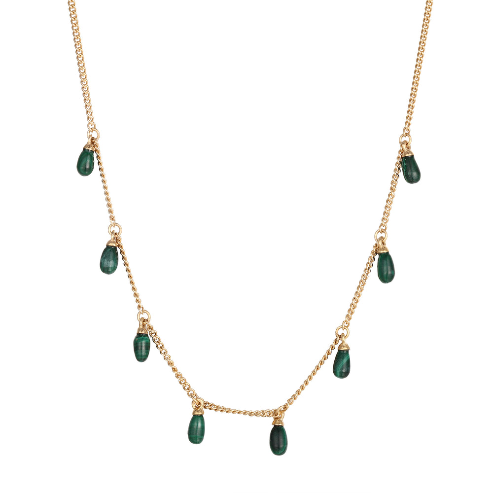 malachite necklace -seol gold