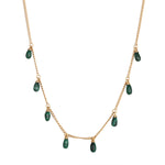 Malachite Charm Necklace