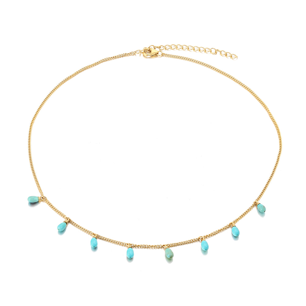 sterling silver necklace - seol gold