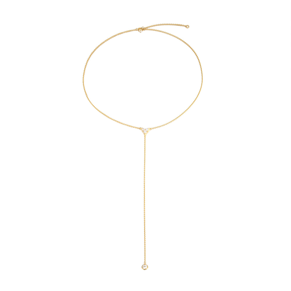 gold lariat necklace - seol-gold