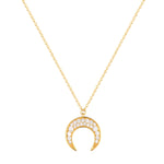 gold - tusk necklace - seolgold