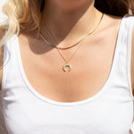 CZ Tusk Necklace - seol-gold