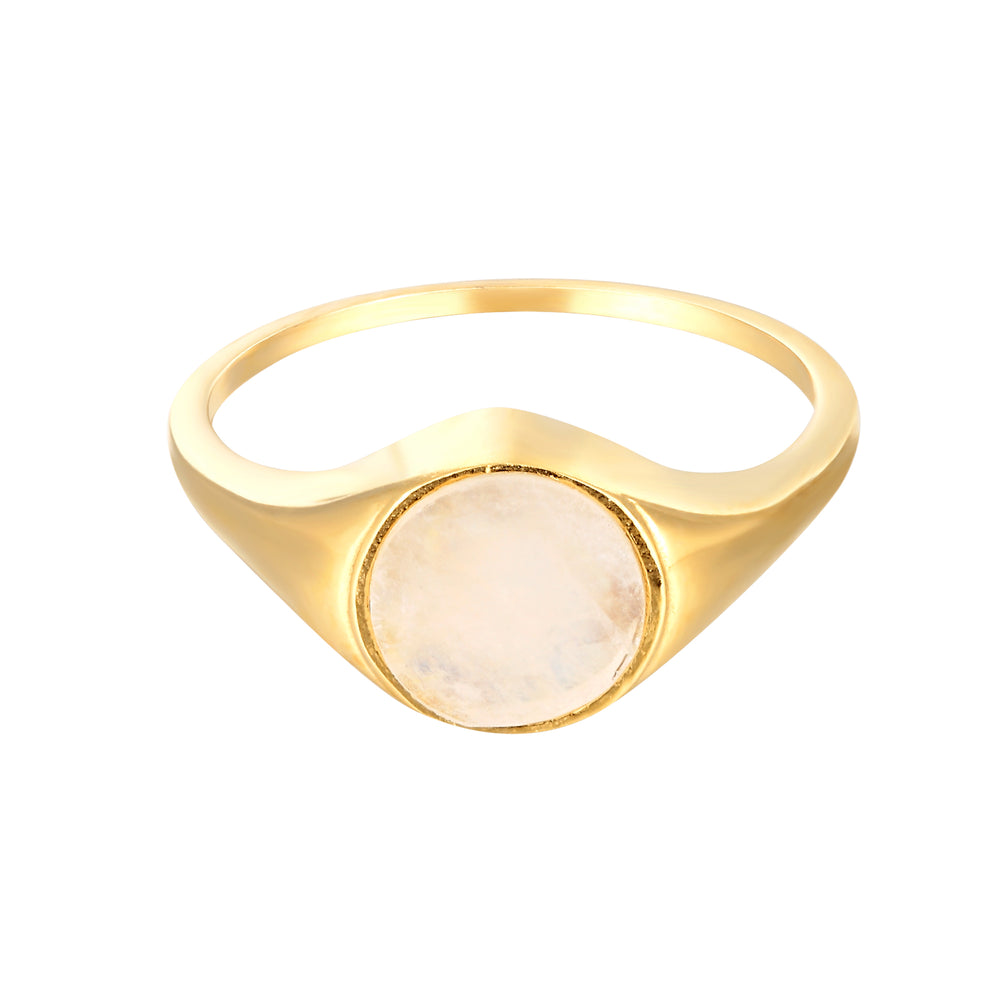 Moonstone - gold ring - seolgold