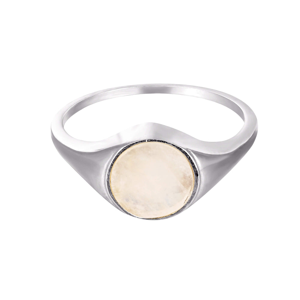 Moonstone Signet Ring