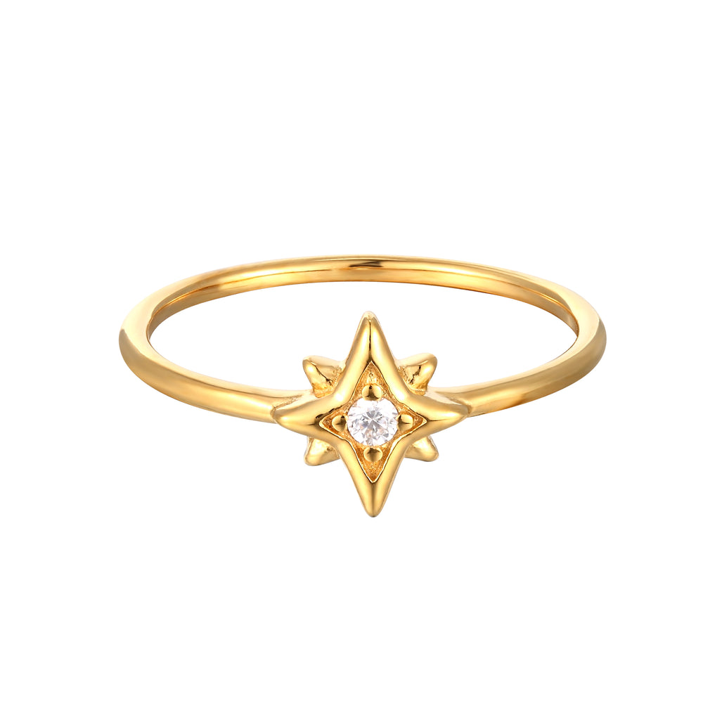 North Star CZ Ring