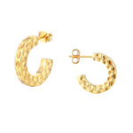 Chunky Hammered Half-hoops - seol-gold