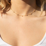 sterling silver necklace - seol-gold