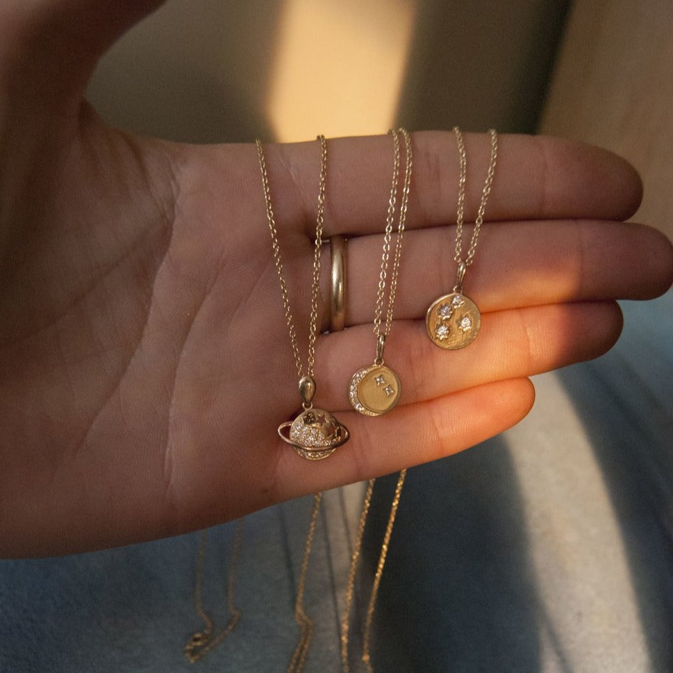 gold constellation necklace- seol-gold