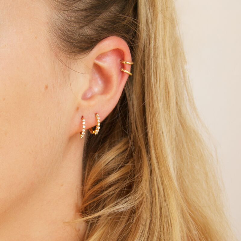 Tiny CZ Hoops - seol-gold