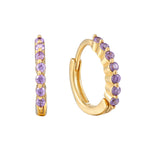 Amethyst gold Hoops - seol-gold
