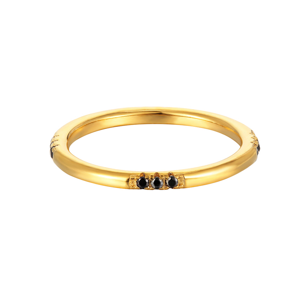 Black CZ Eternity Stacking Ring