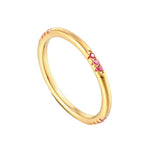 ruby eternity ring - seolgold