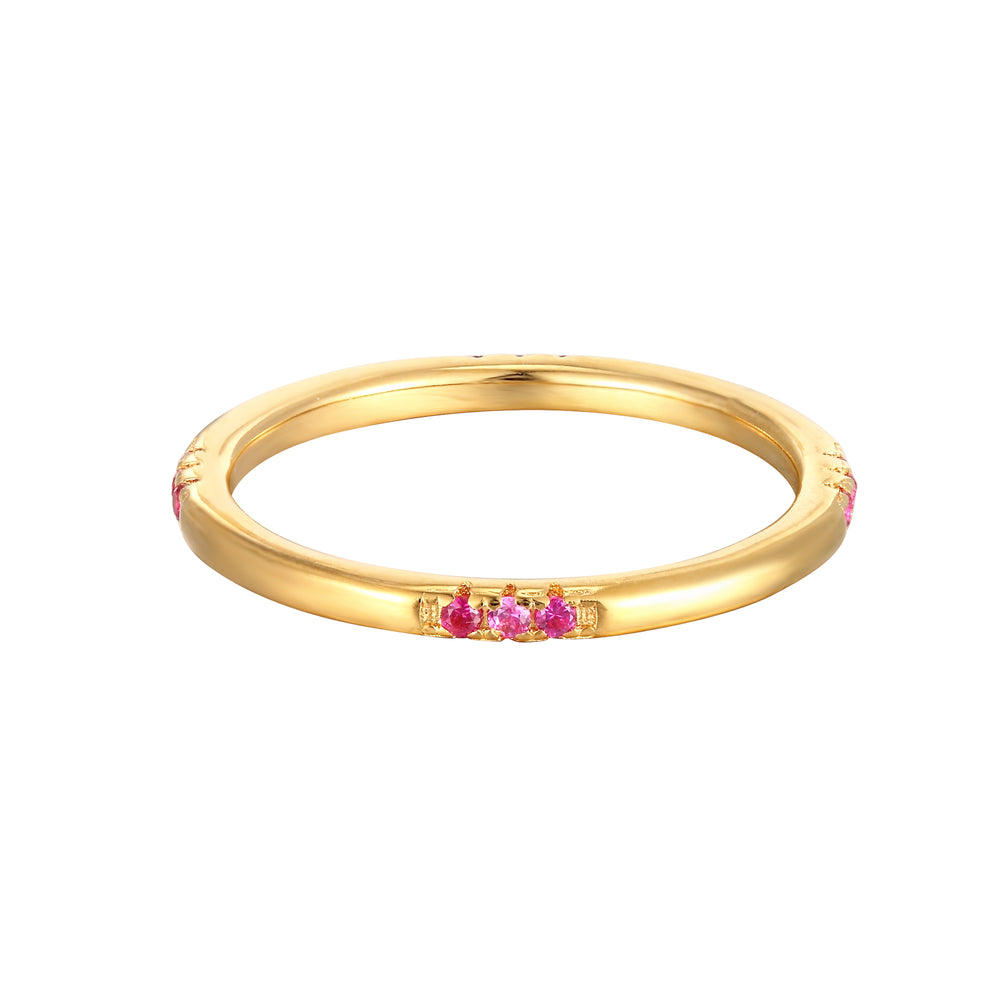 Ruby CZ Eternity Stacking Ring