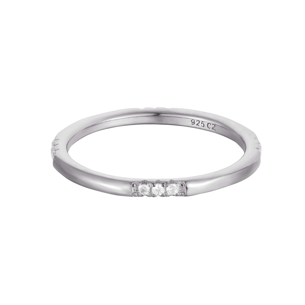 silver eternity ring - seolgold