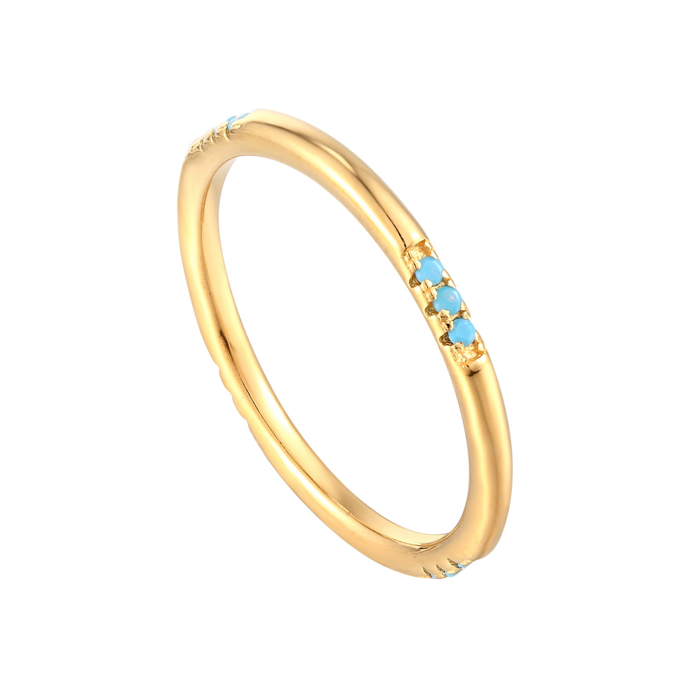turquoise gold ring - seolgold
