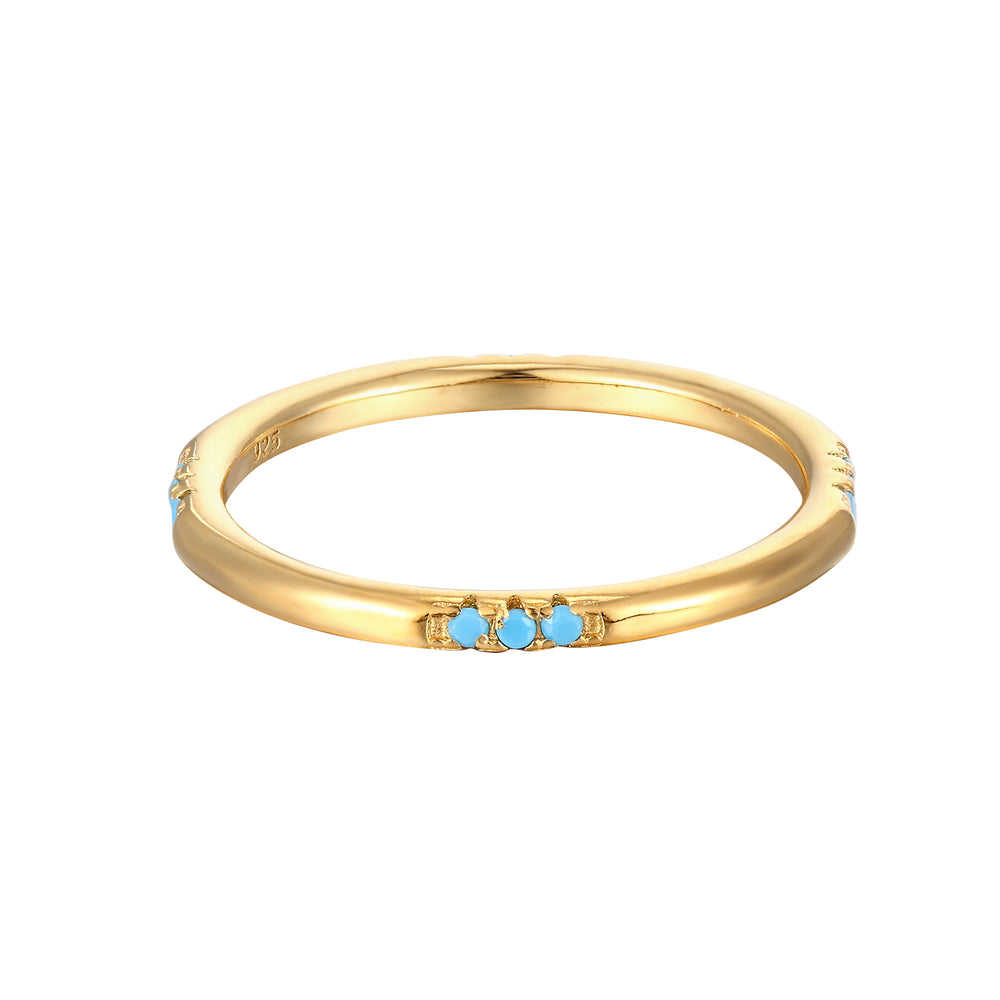 Turquoise Eternity Stacking Ring
