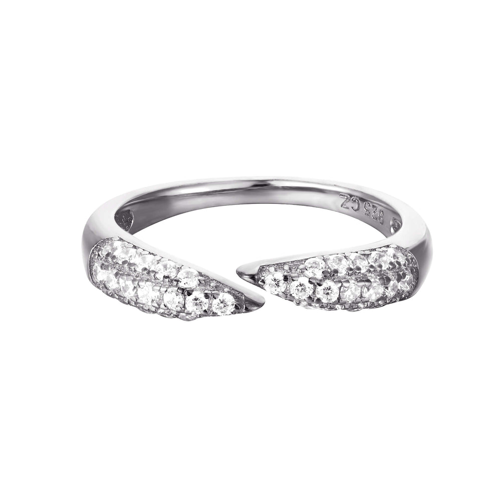 Pave CZ Open Claw Ring
