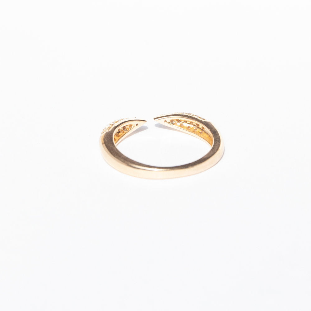 gold cubic zirconia ring - seol-gold