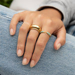 Chunky Curved Round Cigar Band Ring