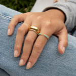 Pave Turquoise Open Claw Ring - seol-gold