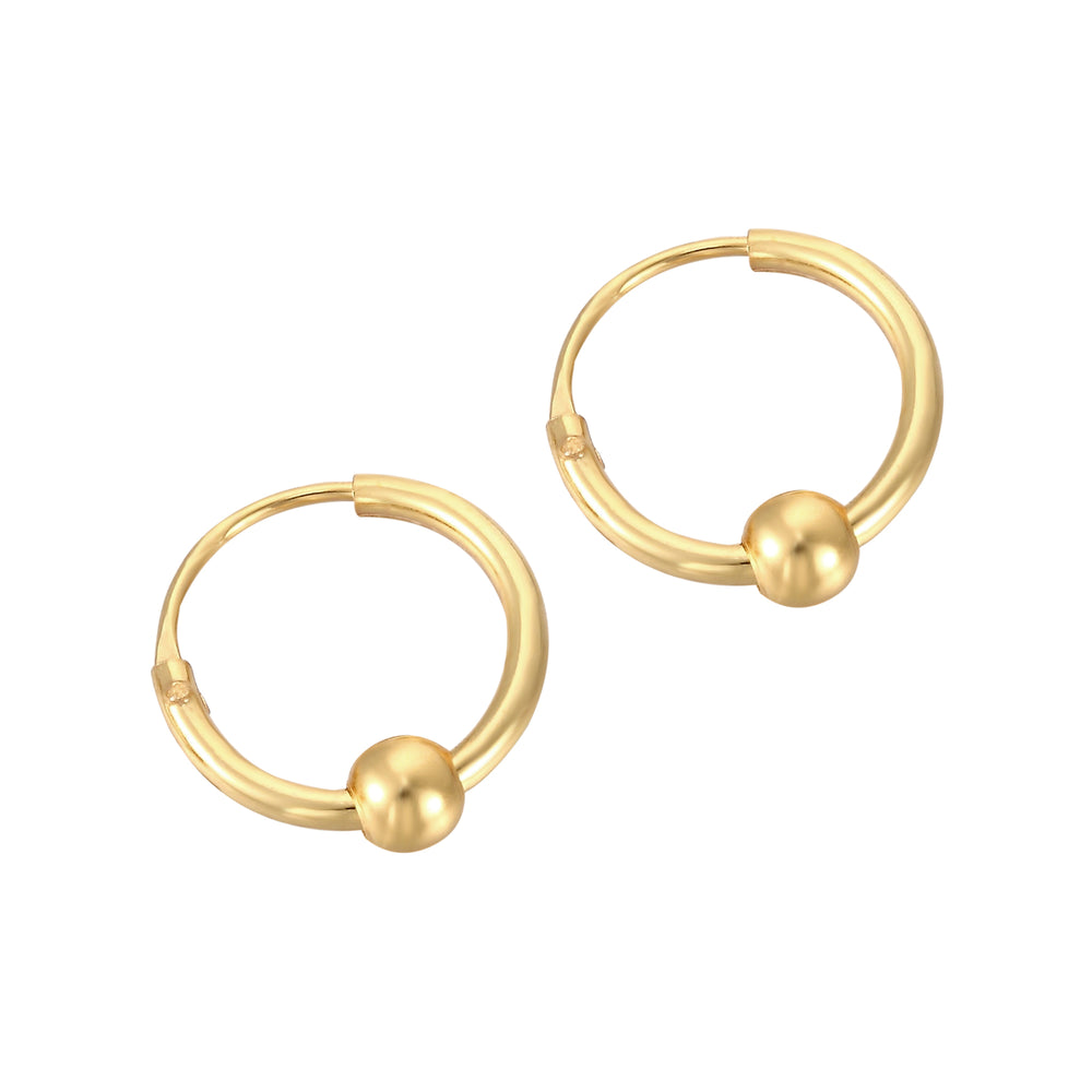 Tiny Gold Bead Hoops - seol-gold