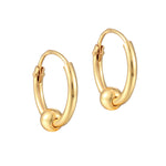 tiny gold plain hoops - seolgold