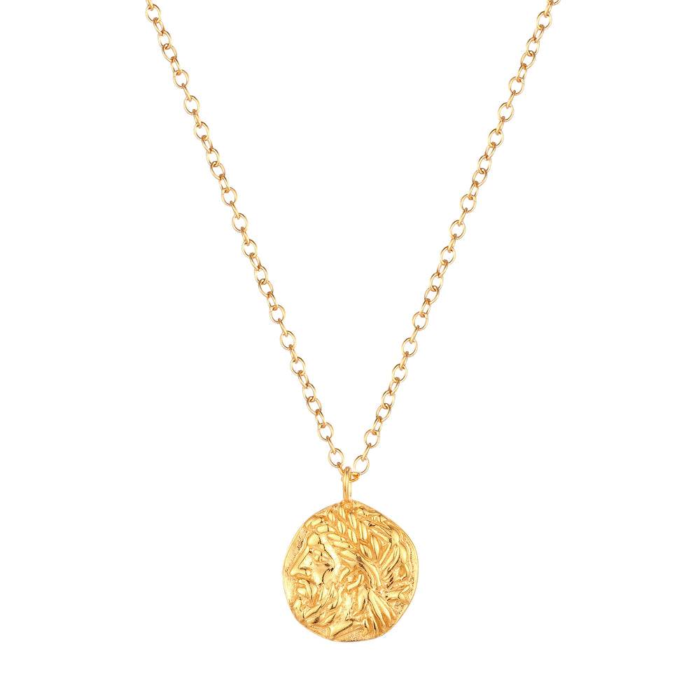 Caesar Coin Medallion Necklace