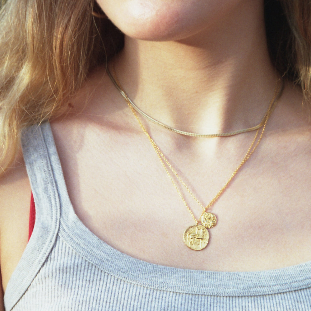 roman coin necklace - seol gold