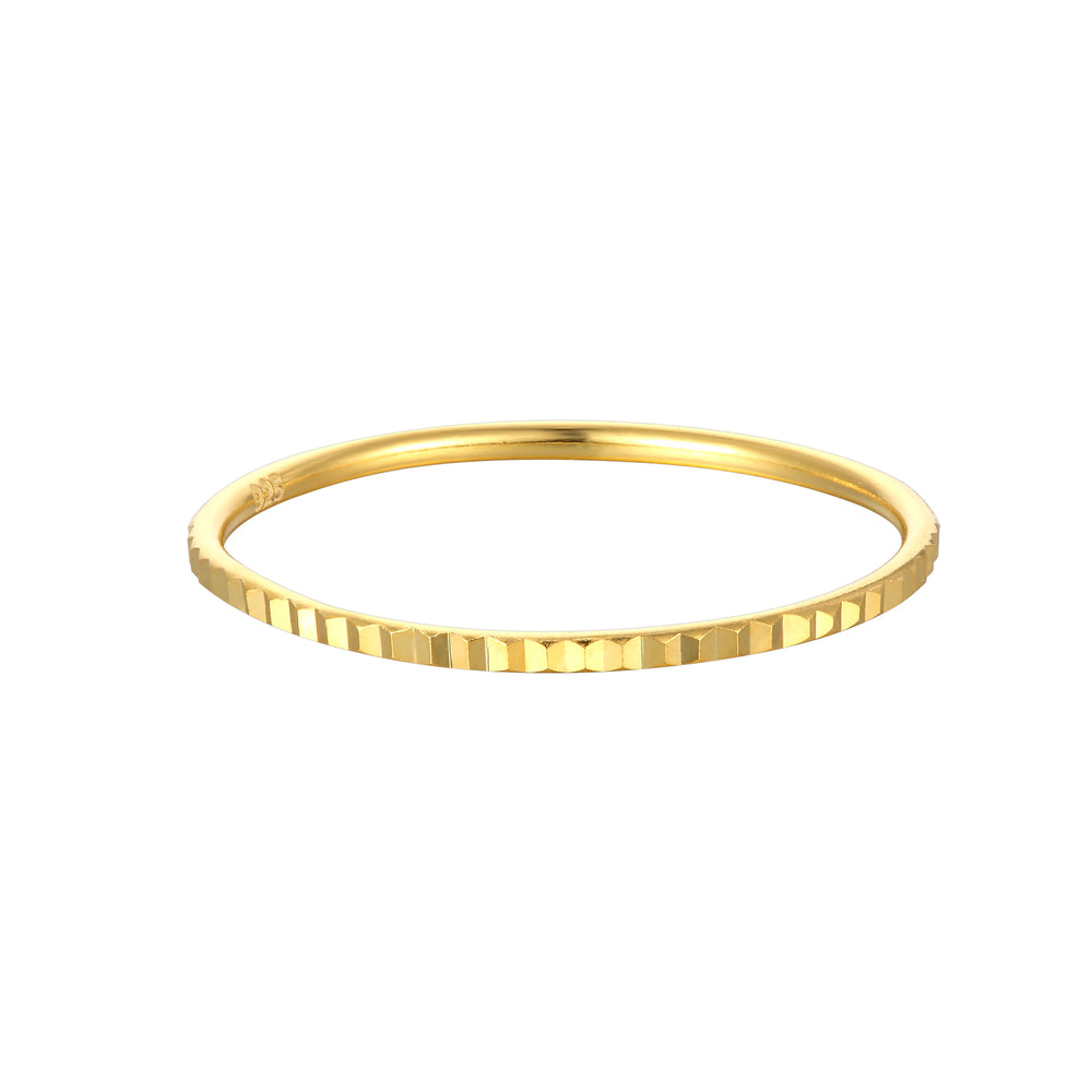 Square Patterned Stacking Ring