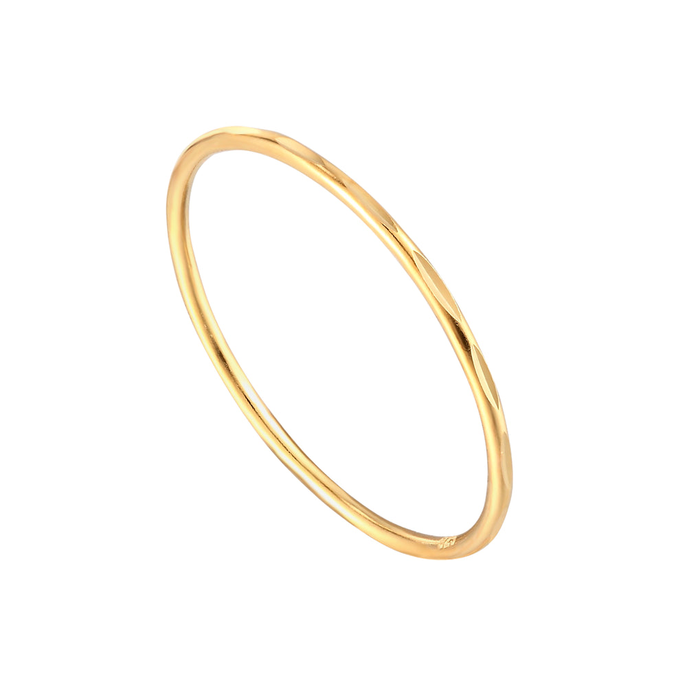 Faceted Stacking Ring - seol-gold
