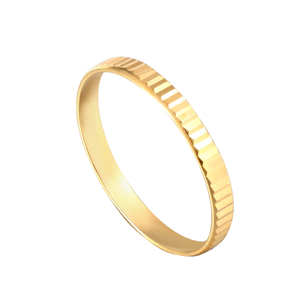 Faceted Edge Stacking Ring - seol-gold
