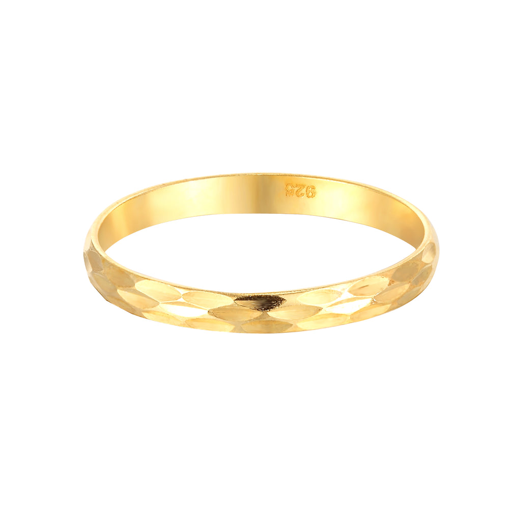 Faceted Groove Stacking Ring
