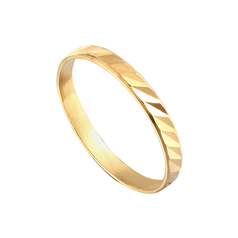 Engraved Stacking Ring - seol-gold