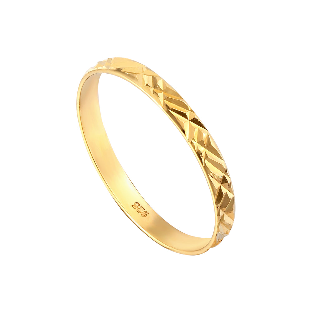 Faceted Geometric Stacking Ring - seol-gold