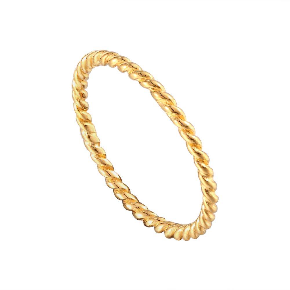 Thin Twisted Rope Stacking Ring