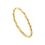 Rope Twist Plait Ring - seol-gold