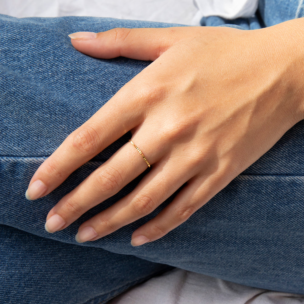 tiny thin stacking ring - silver - seolgold