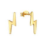Lightning Bolt earrings - seol-gold