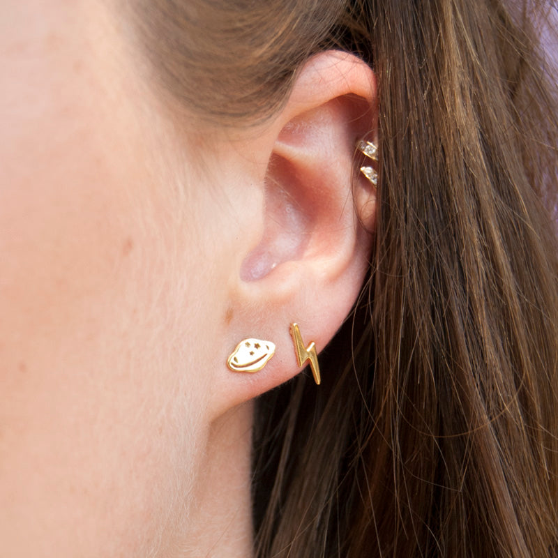 Sterling silver stud earrings - seol-gold