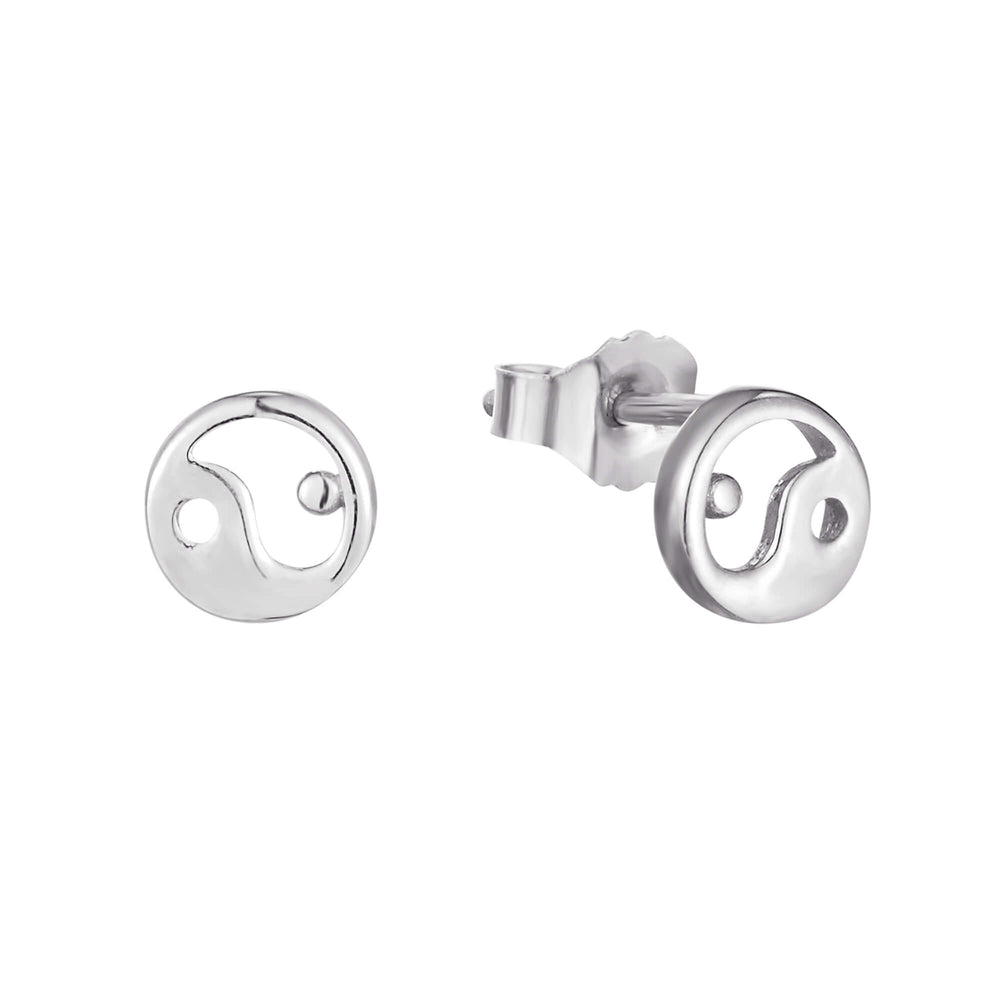 silver stud earrings - seol-gold