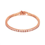 rose gold tennis bracelet - seolgold