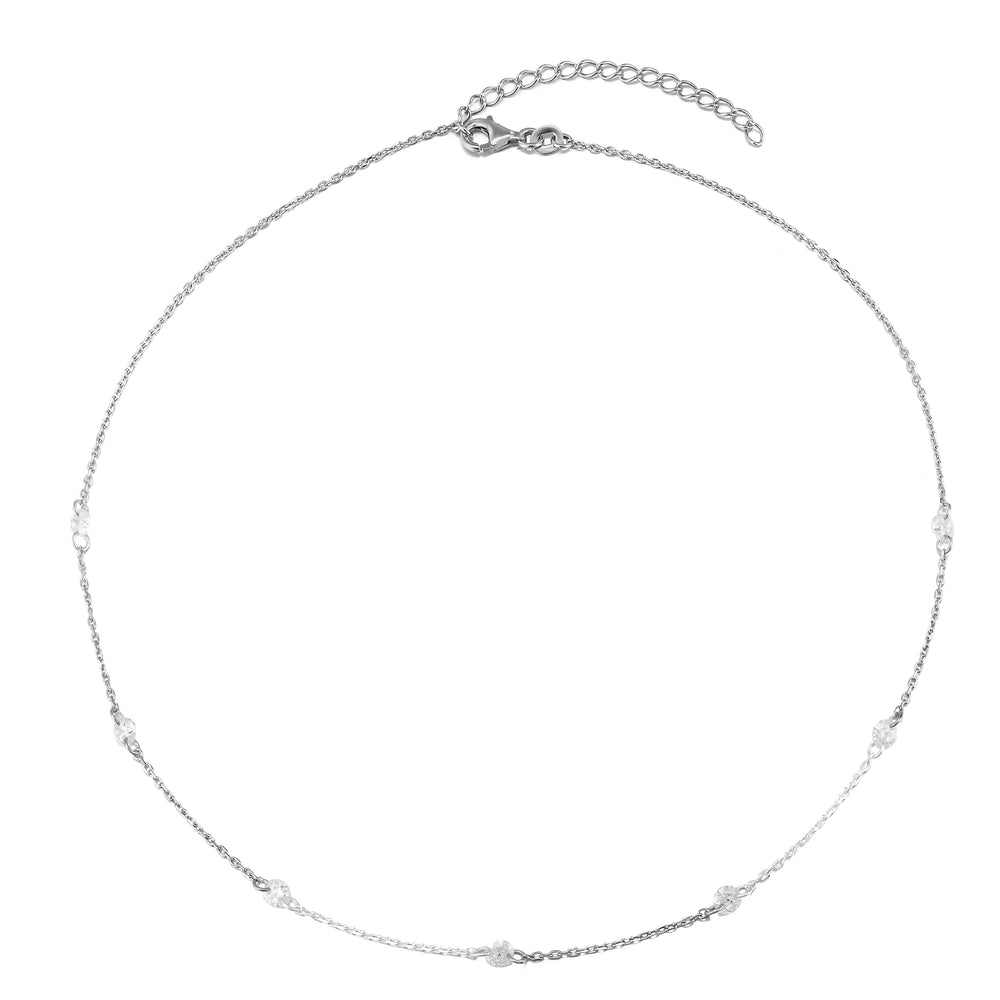 silver cz necklace - seolgold