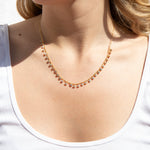 bezel necklace -seol gold