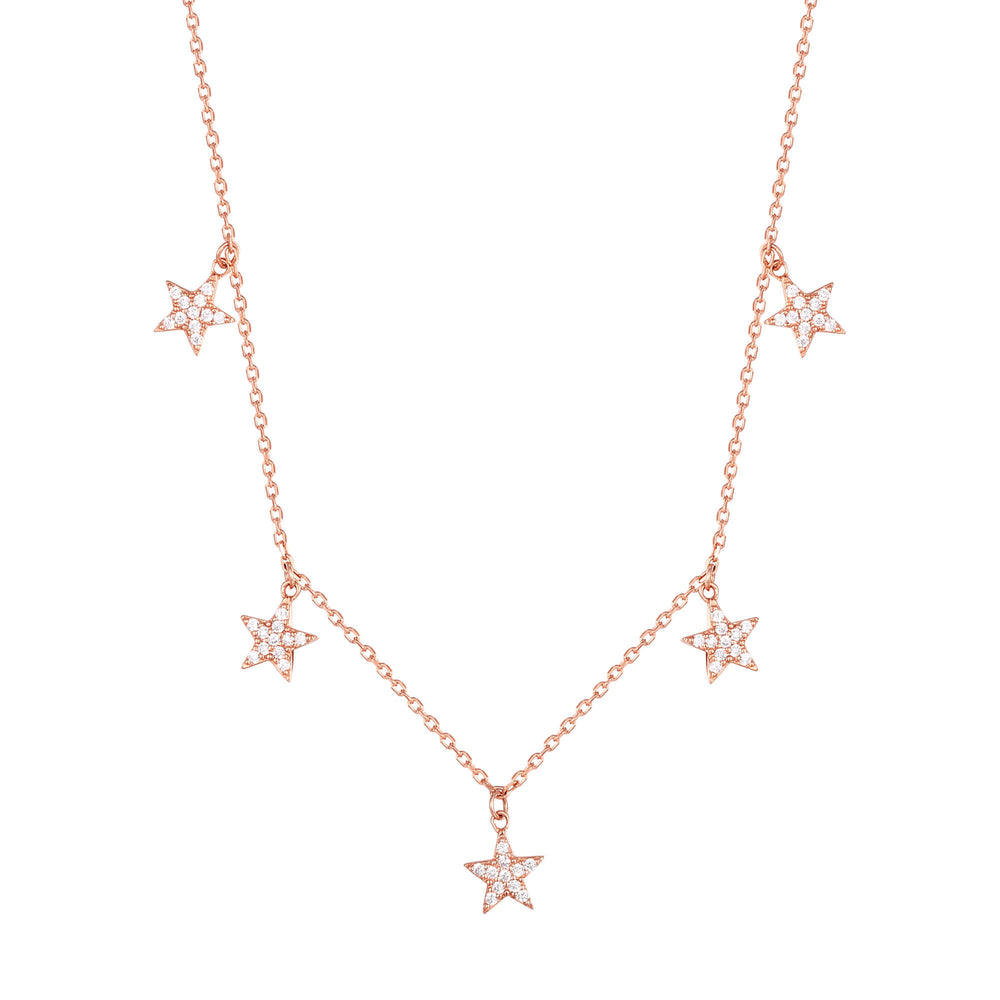 rose gold star Necklace - seol-gold