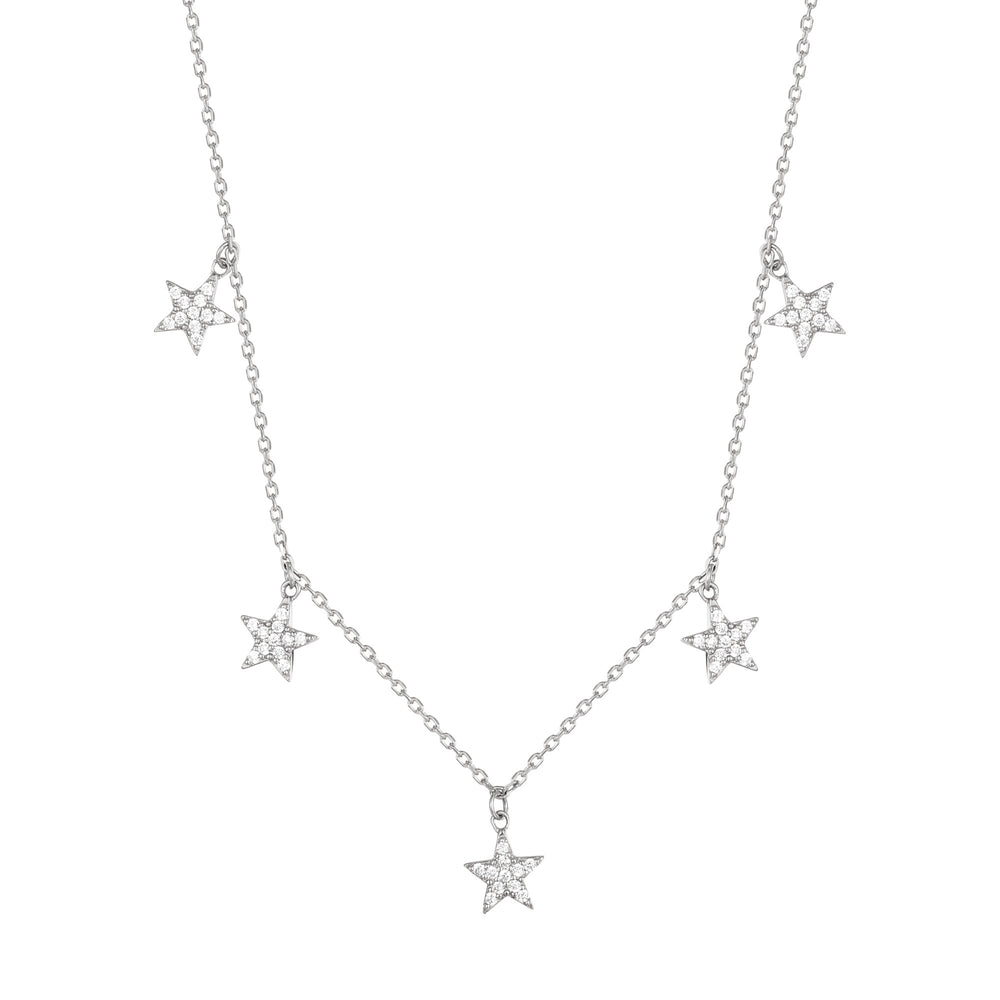 silver star Necklace - seol-gold