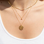 dot necklace - seol-gold