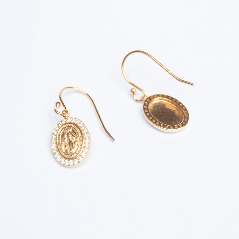 Lady Guadalupe Earrings - seol-gold