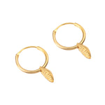 Gold charm Hoop Earrings - seol-gold