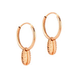 Conch Shell Charm Hoops